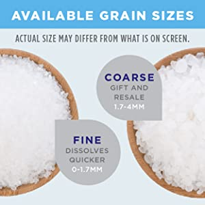 Minera Natural Dead Sea Salt, 40 lbs  - Coarse Grain (Qty 2, 20 lb  Bags)