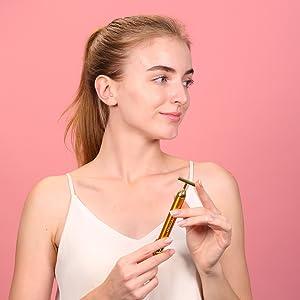 energy beauty bar gold beauty bar 24k golden pulse facial massager beauty bar 24k gold face massage