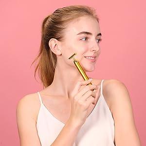 face massage 3D Roller Face Massager jade roller face roller massager electric energy beauty bar