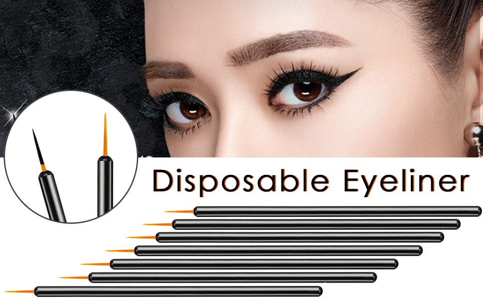 Amazon Kingmas 100 Pack Disposable Eyeliner Brushes Applicator