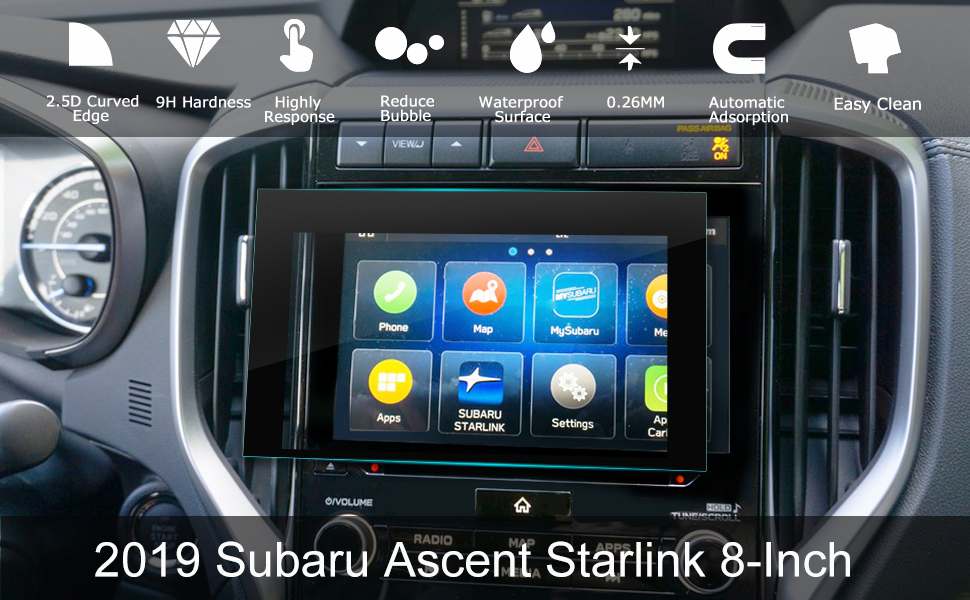 LFOTPP 2019 Ascent Starlink 8-Inch Car Navigation Screen Protector, 9H  Hardness Tempered Glass Infotainment Center Touch Display Screen Protector  Anti