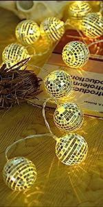 AceList 20 LED Disco Ball LED Party Light String Decorative Lanterns
