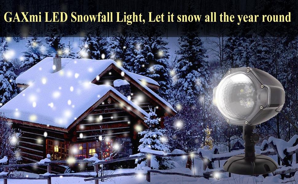 Amazon.com: GAXmi LED Christmas Projector Lights Snowfall ...