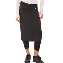 Midi Skirt with Attached 3/4 Length Leggings