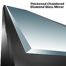 Diamond Chamfered Glass Mirror