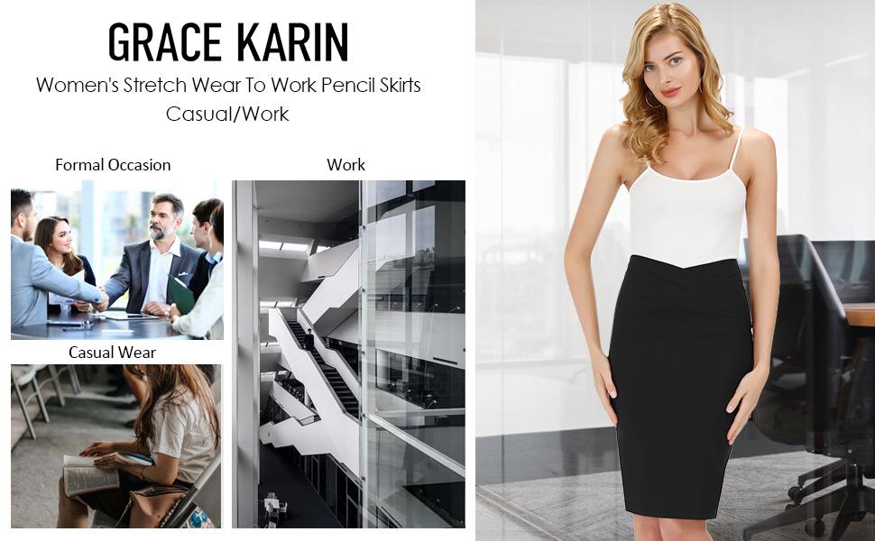 grace karin work pencil skirt
