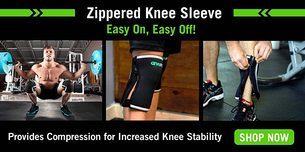 0c12fc4a22 Ergonomic design for the perfect fit - Patent-pending zippered design - Put  on or remove your knee sleeves ...