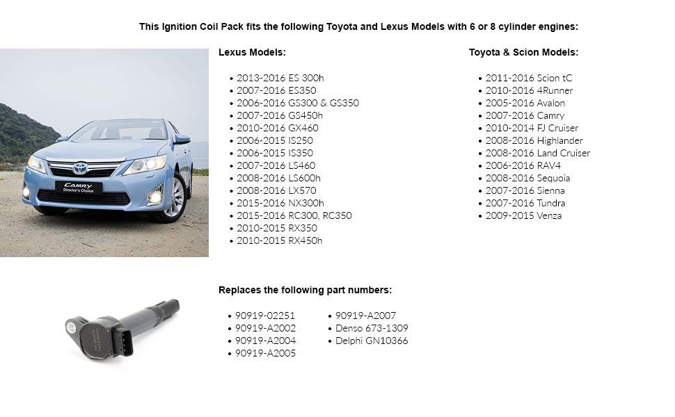 עדכון מעודכן Amazon.com: Ignition Coil - Replaces# 90919-A2007 - Fits Toyota FP-61