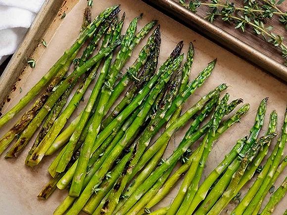 Image of asparagus on sheet pan