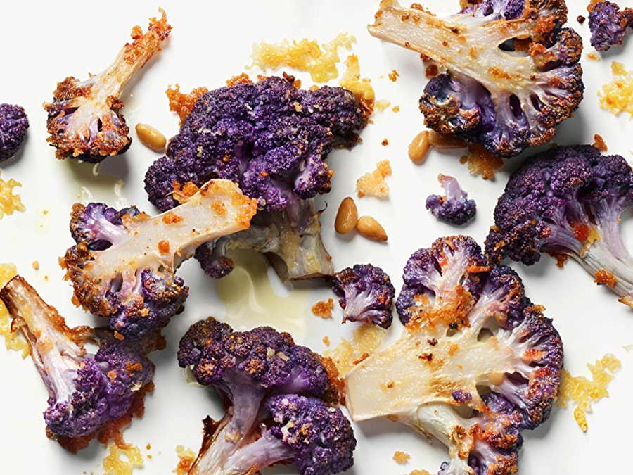 Recipe: Parmesan Crusted Purple Cauliflower