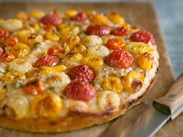 Quick Heirloom Tomato Foccacia