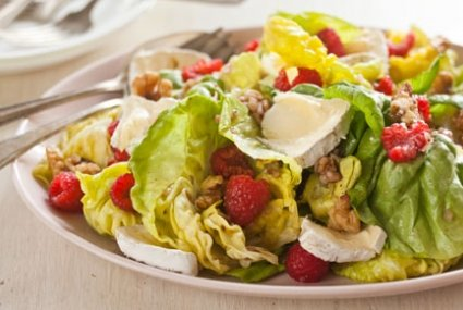Raspberry-Walnut Salad with Mt. Tam Cheese