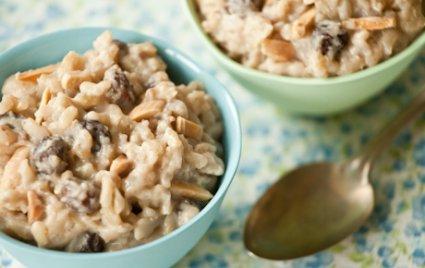 Almond Brown Rice Pudding