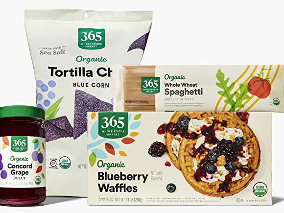 group of organic products from whole foods market