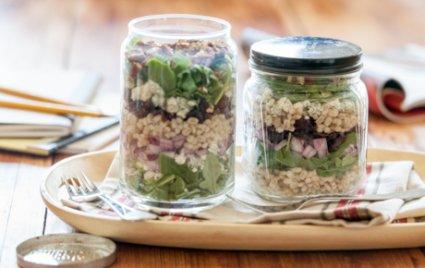 Lunch-in-a-Jar: Cherry Pecan Grain Salad