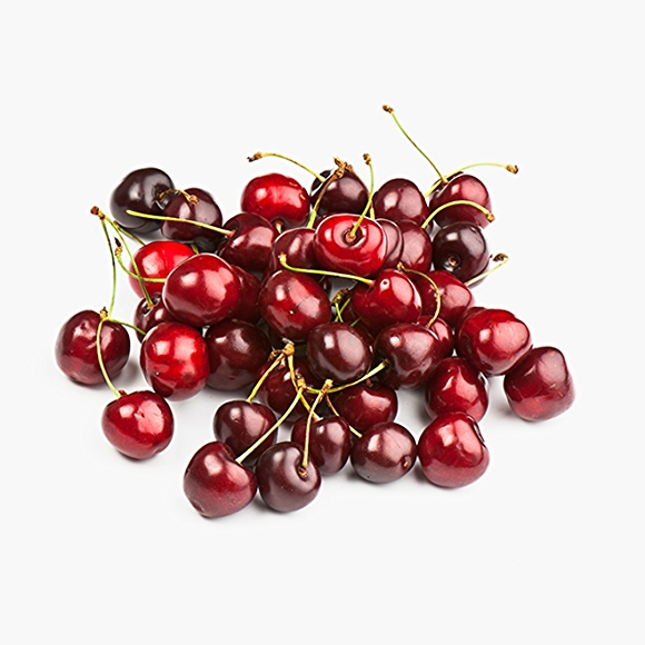 Image of fresh cherries on white background
