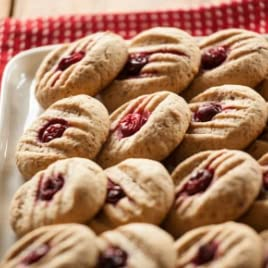 Goat Cheese Sandies with Cranberry and Orange