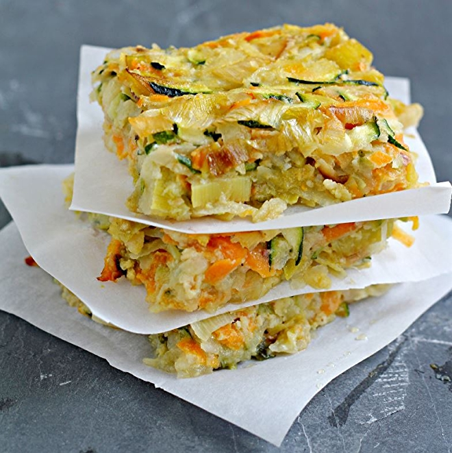 Vegetable Kugel with Caramelized Leeks. Photo by Amy Kritzer | What Jew Wanna Eat