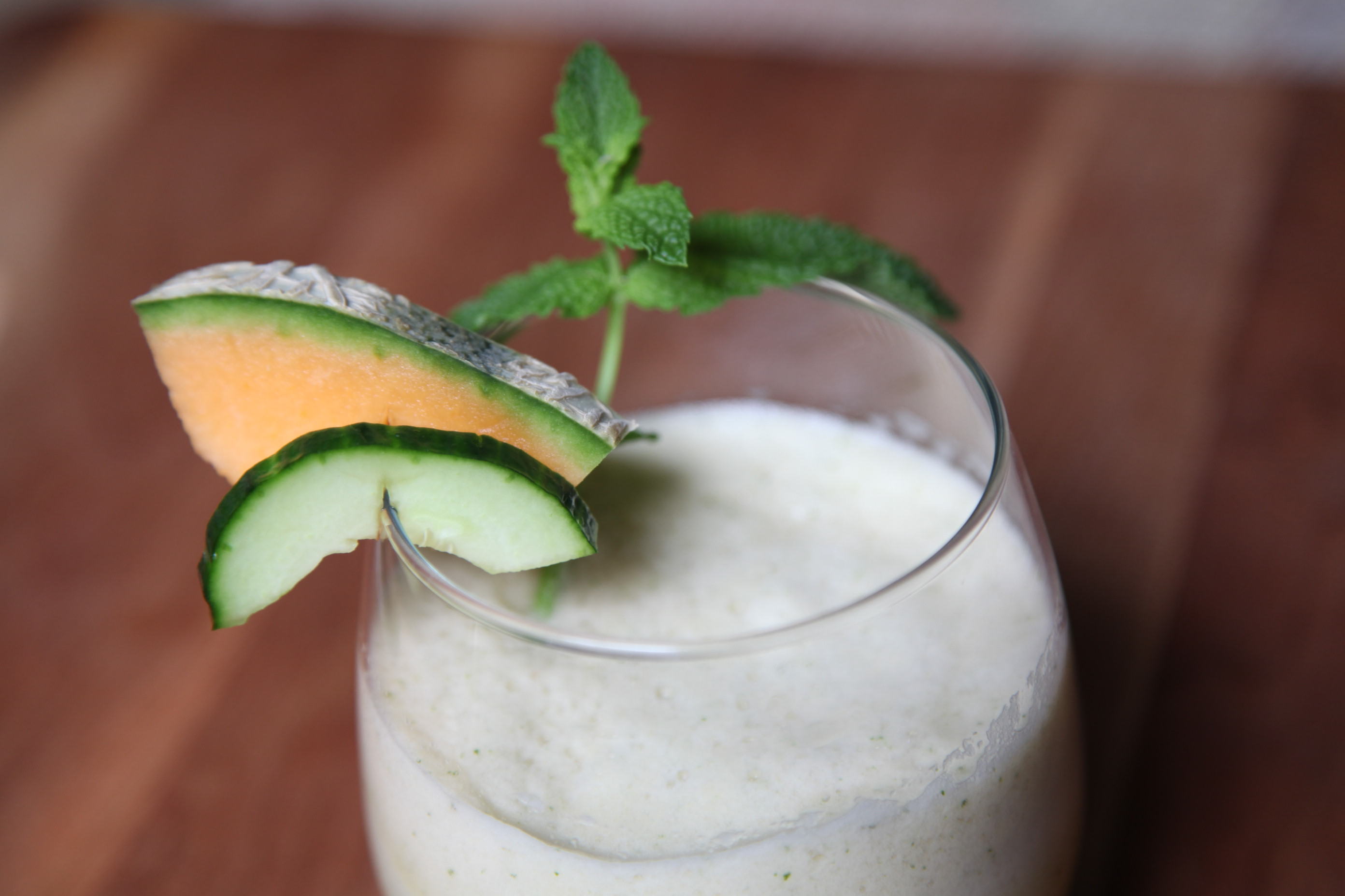 Cuke, Melon & Mint Smoothie | Image by Lady Moon Farms