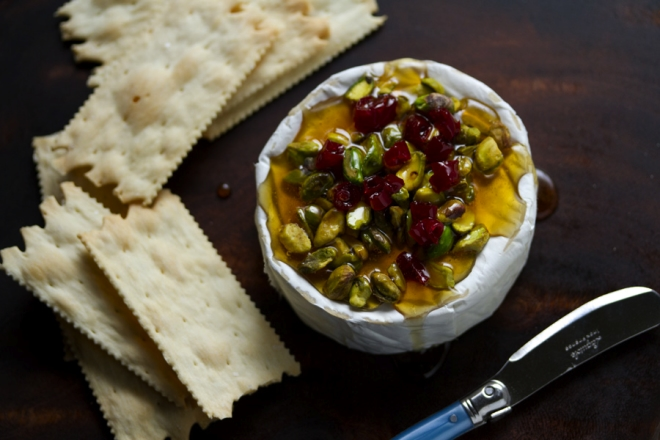 Honey-Baked Brie with Pistachios and Cherries – Aida Mollenkamp