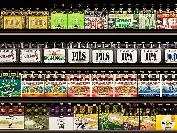selection of craft beer in beer department