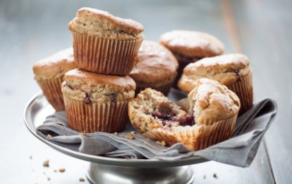 Peanut butter and Jelly Snack Muffins (For a nut-free version, swap peanut butter for sunflower seed butter.)