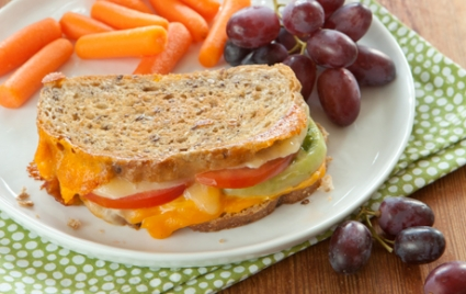 Grilled Cheese and Tomato on Multi-Grain Bread