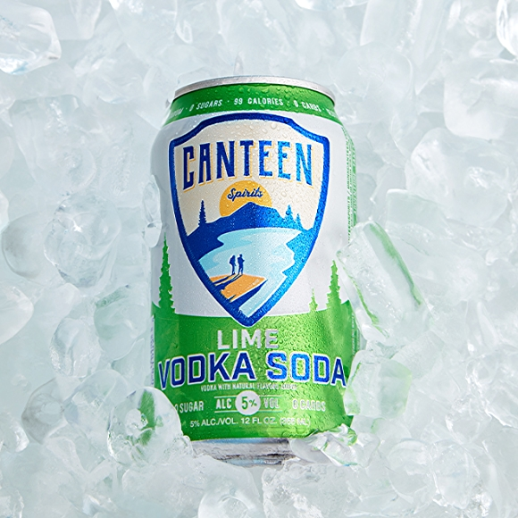 Canteen Lime Vodka Soda canned cocktail drink