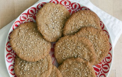 Photo of cookies made with tahini.
