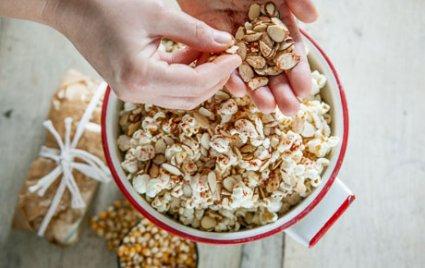 Almond-Smoked Paprika Popcorn Packets