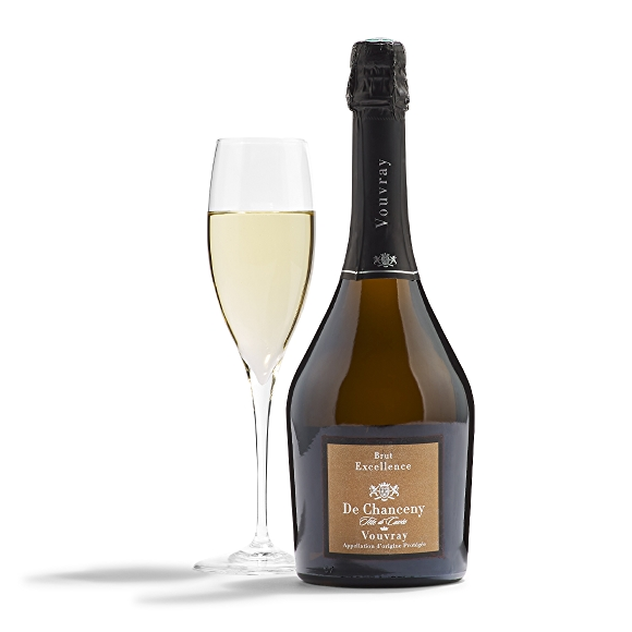 Bottle of De Chanceny Brut Vouvray Excellence Sparkling White Wine