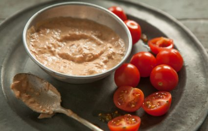 Grilled Tomato and Tahini Dressing