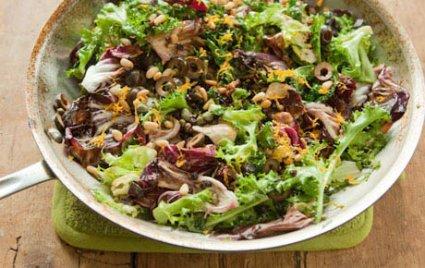Warm Winter Greens Salad