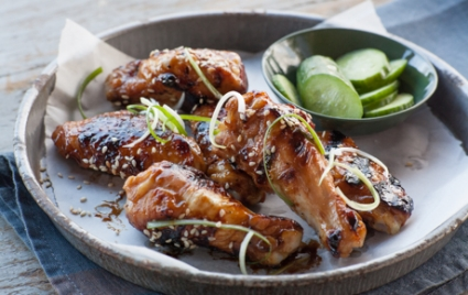 Asian-Style Chicken Wings with Hoisin and Lime