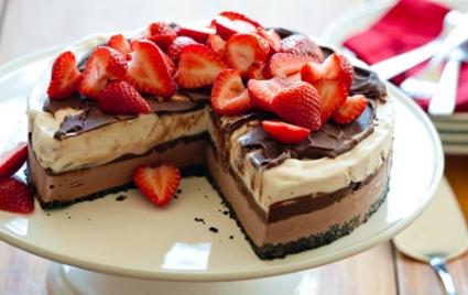 Chocolate-Strawberry Ice Cream Cake