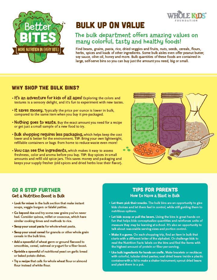 Better Bites: Bulk issue