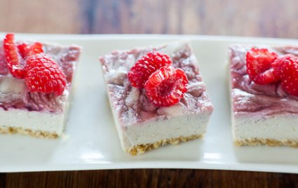 Raspberry Vegan Cheesecake Bites