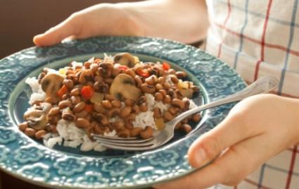 Basmati Rice Black Eyed Peas and Sunflower Seeds