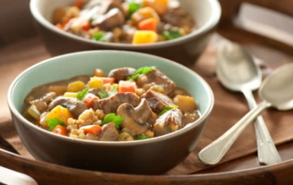 Root Vegetable Stew with Beef and Barley