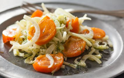 Shaved Fennel and Persimmon Salad