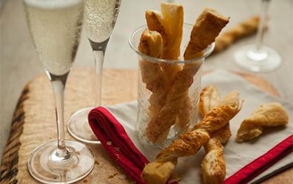 Champagne Cheddar Cheese Straws