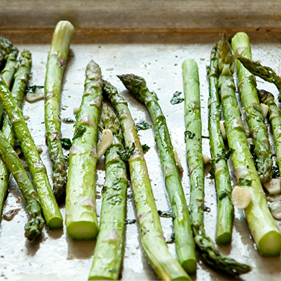 Grilled Asparagus on Sheet Pan