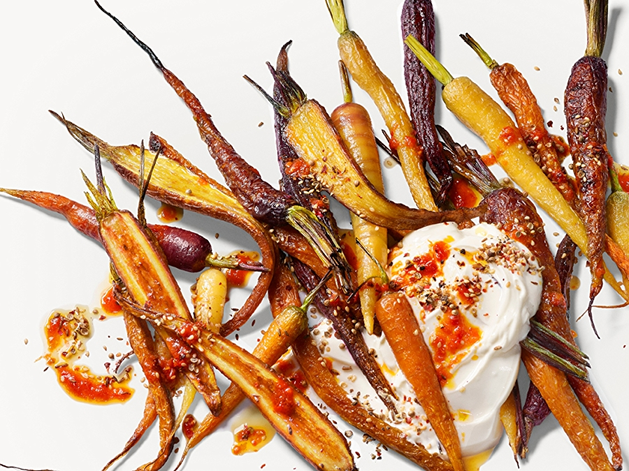 Recipe: Harissa Roasted Carrots