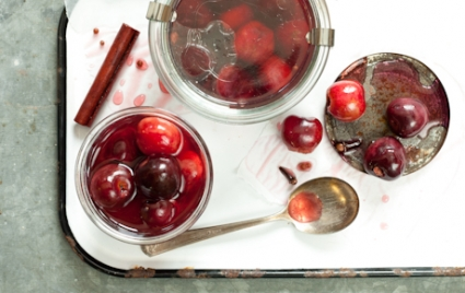 Spiced Quick-Pickled Cherries