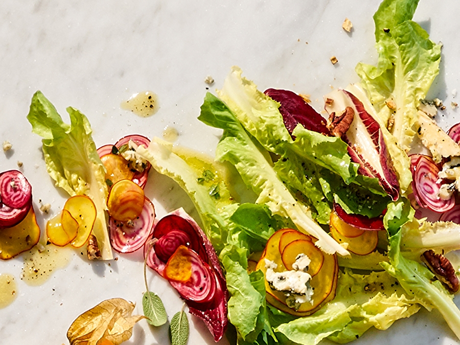 Recipe: Beet Salad with Gorgonzola and Maple Dressing