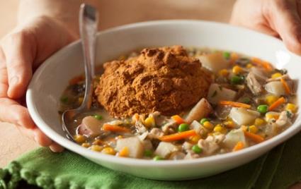 Slow Cooker Veggie and Chicken Pot Pie