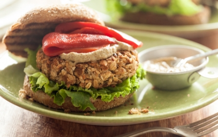 White Bean and Almond Burgers