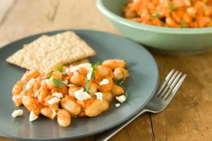 White Bean Salad with Roasted Red Pepper Dressing
