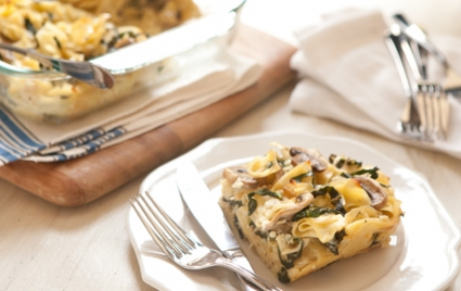 Mushroom Kale Noodle Kugel