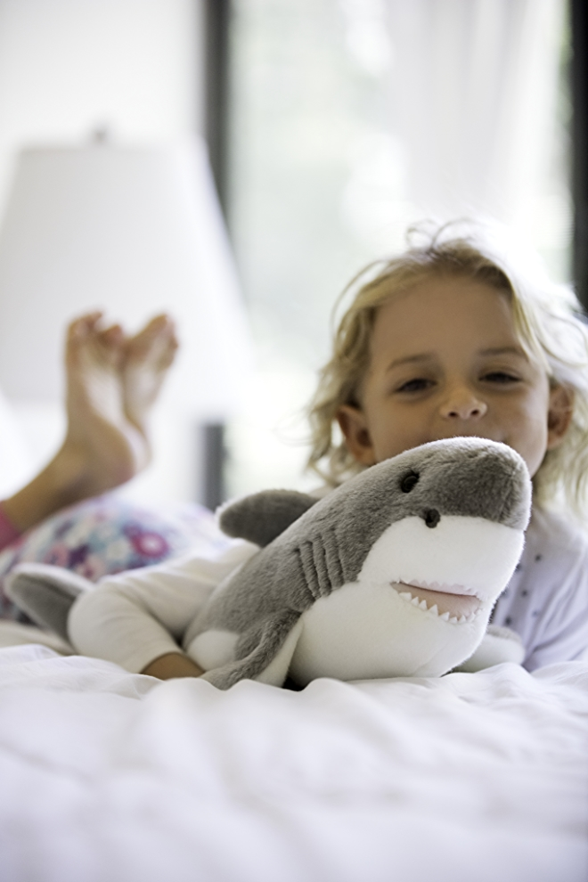 PBS Kids child with stuffed animal